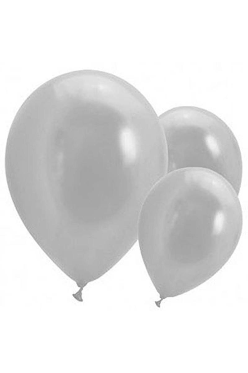 Metalik Gümüş Balon 30cm (12 inch) 50li