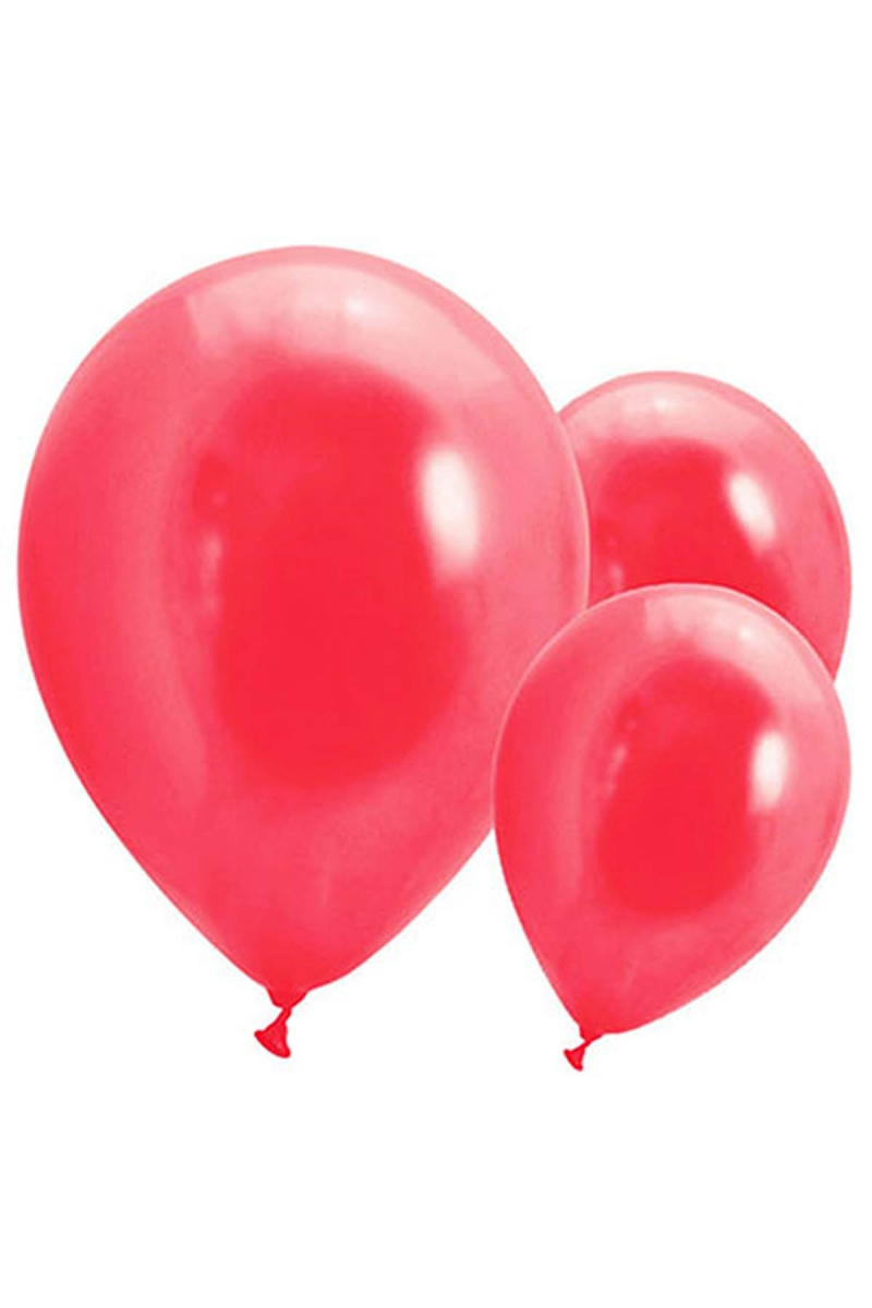 Metalik Kırmızı Balon 30cm (12 inch) 30lu