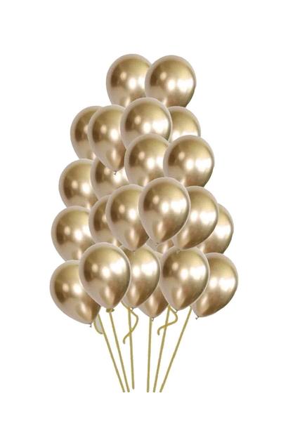 Metalik Krom Balon Altın 40cm (16 inch) 25li