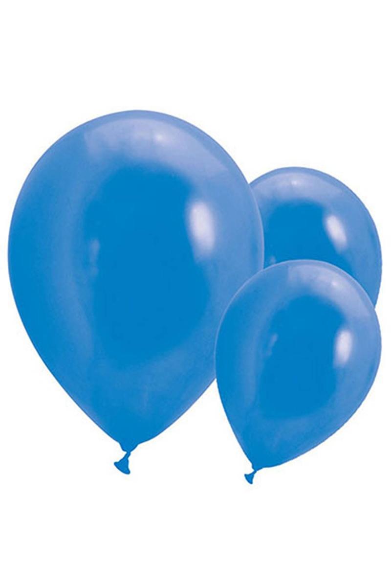 Metalik Lacivert Balon 30cm (12 inch) 20li
