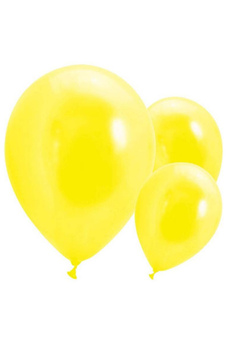 Metalik Sarı Balon 30cm (12 inch) 30lu