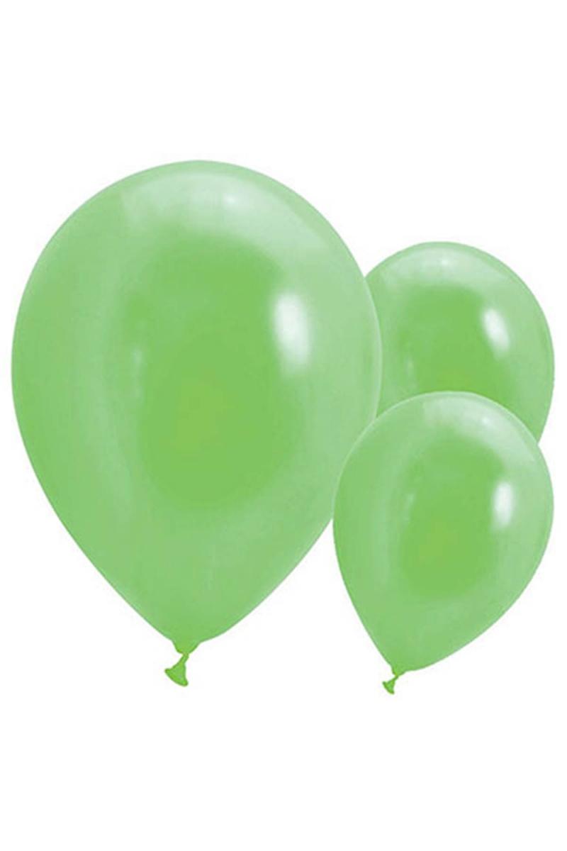 Metalik Yeşil Balon 30cm (12 inch) 30lu