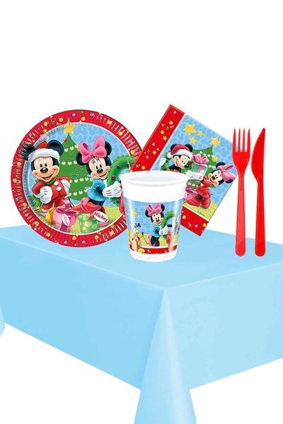Mickey Yılbaşı Partisi Sofra Seti 8 Kişilik 87 Parça Model 1