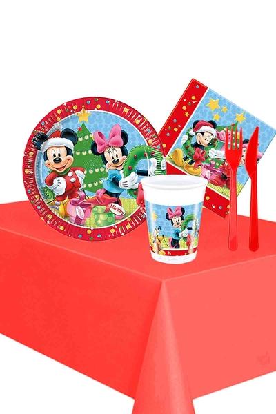 Mickey Yılbaşı Partisi Sofra Seti 8 Kişilik 87 Parça Model 2