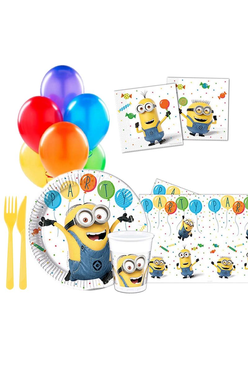 Minion Balon Partisi Parti Seti 8 Kişilik 97 Parça