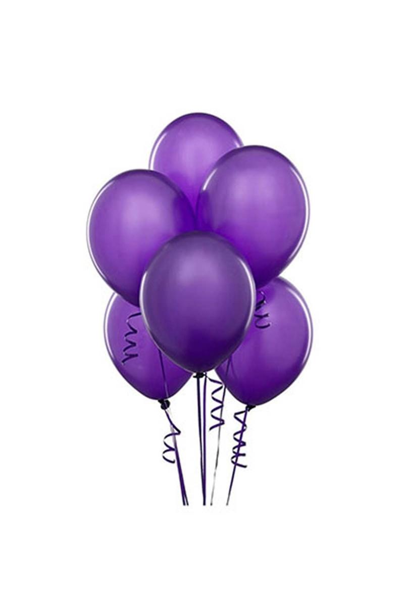 Mor Lateks Balon 30cm (12 inch) 50li