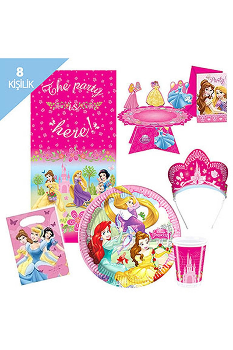 Prensesler Parti Seti 8 Kişilik 113 Parça