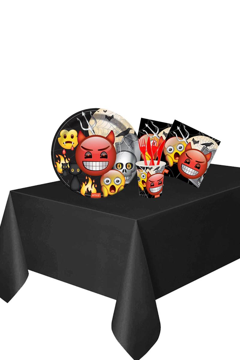 Roll-Up Emoji Korku Partisi Sofra Seti 8 Kişilik 87 Parça