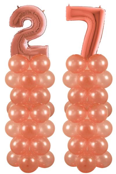 Rose Gold 27 Rakam Balon Standı Seti