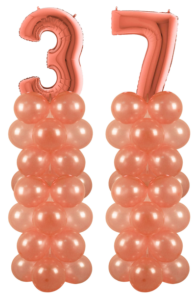 Rose Gold 37 Rakam Balon Standı Seti