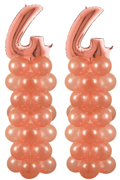 Rose Gold 44 Rakam Balon Standı Seti