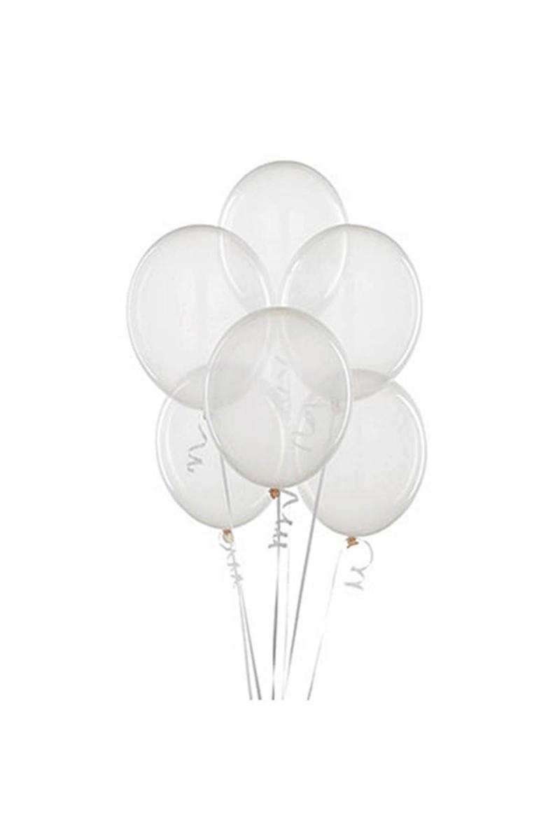 Şeffaf Lateks Balon 30cm (12 inch) 50li