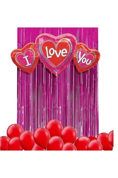 Sevgililer Günü Balon Dekor Seti 22 Parça Model 39