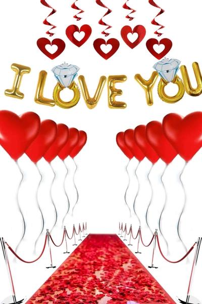 Sevgililer Günü Balon Dekor Seti 26 Parça Model 44