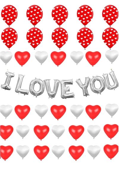 Sevgililer Günü Balon Dekor Seti 38 Parça Model 26