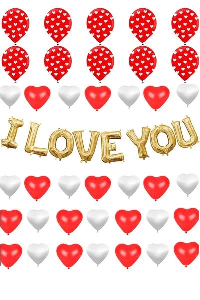 Sevgililer Günü Balon Dekor Seti 38 Parça Model 27