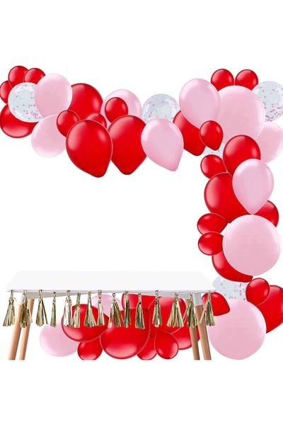 Sevgililer Günü Balon Dekor Seti 63 Parça Model 2