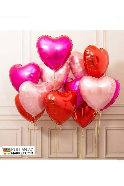 Sevgililer Günü Kalpler Balon Dekor Set 13 Parça