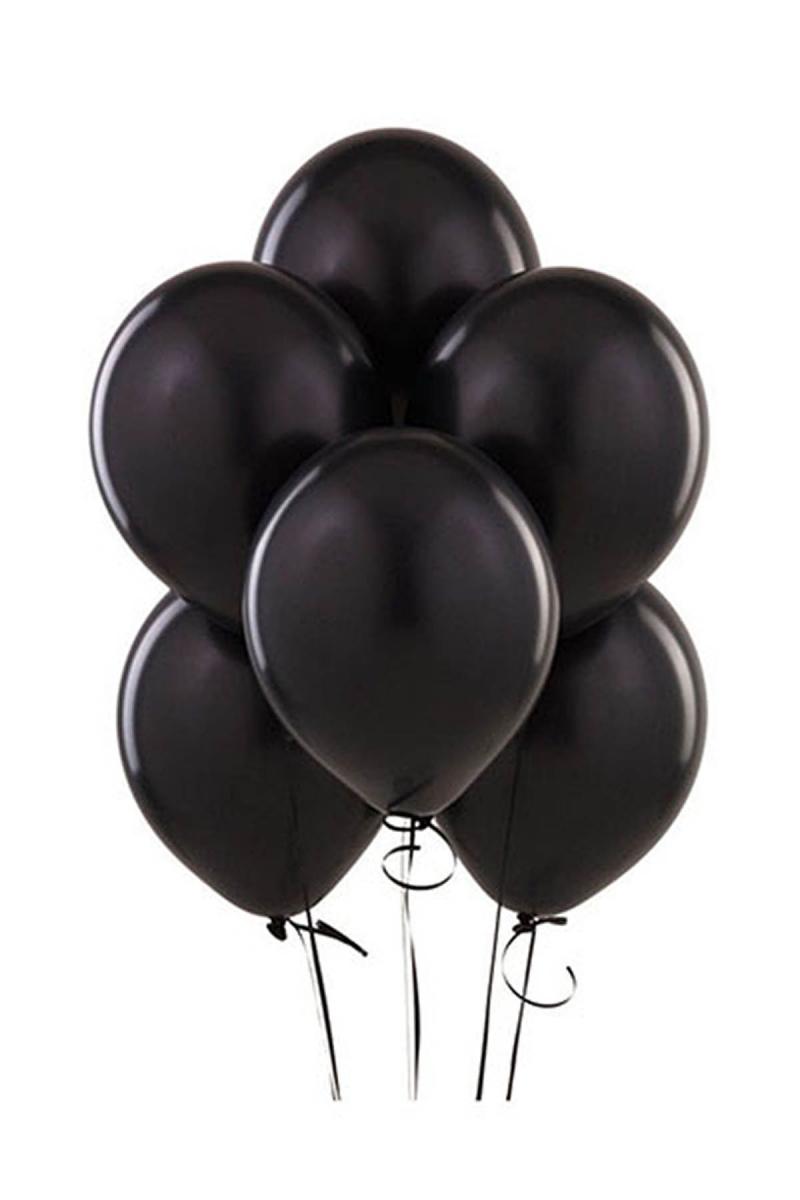 Siyah Lateks Balon 30cm (12 inch) 20li