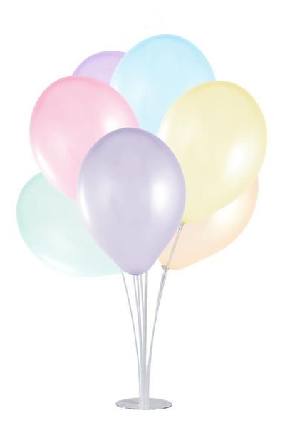 Standlı Makaron Lateks Balon Seti 11 Parça