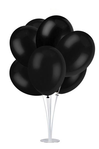 Standlı Siyah Lateks Balon Seti 11 Parça