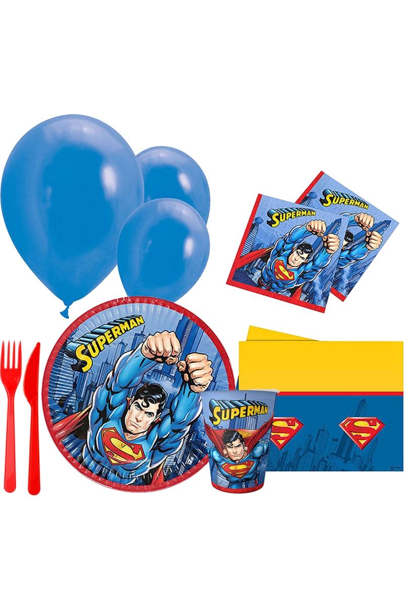 Superman Parti Seti 8 Kişilik 97 Parça