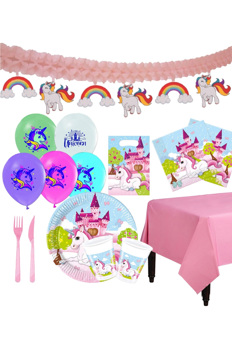 Unicorn Lüks Parti Seti 8 Kişilik 104 Parça