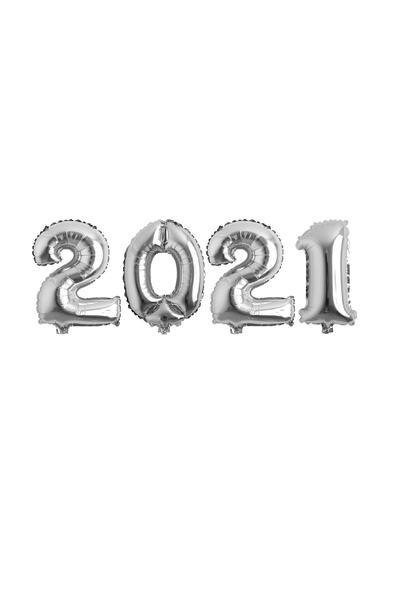 Yılbaşı 2021 Gümüş Folyo Balon Seti 40cm