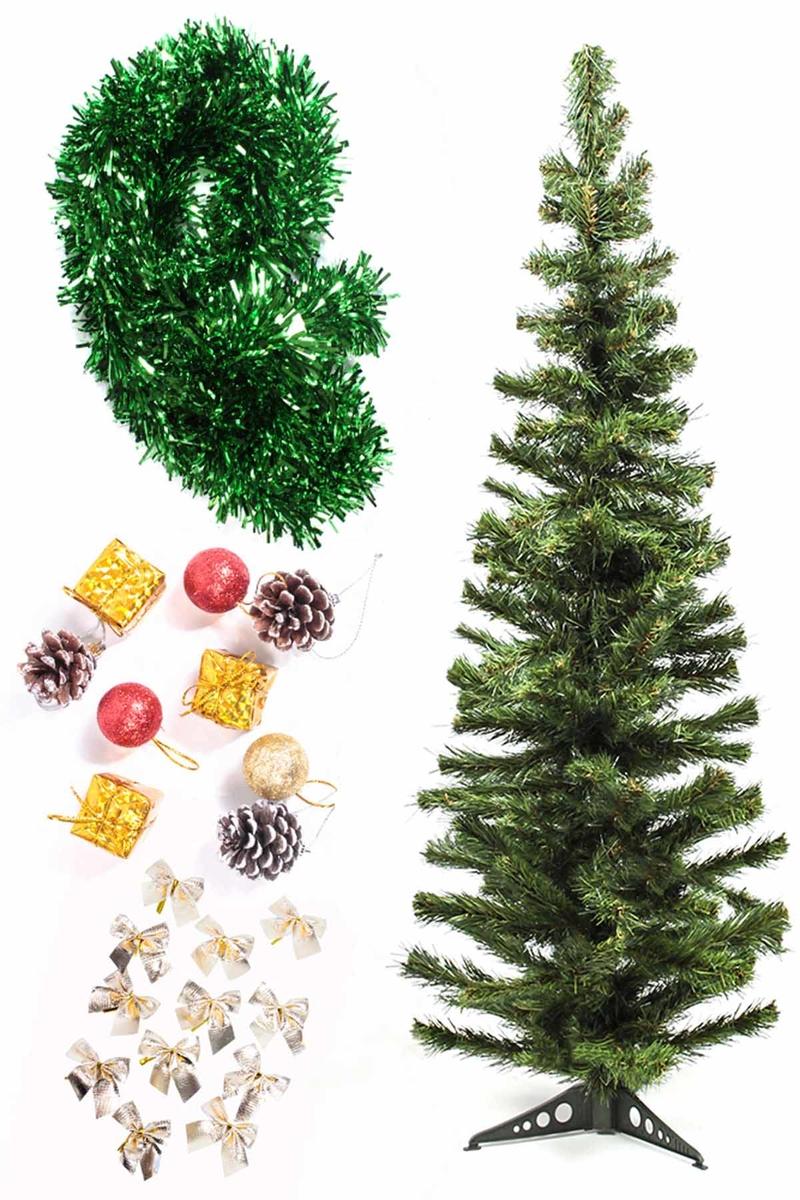 Yılbaşı Ekonomik Süslü Ağaç Seti 120cm 1 Adet (Model-102)