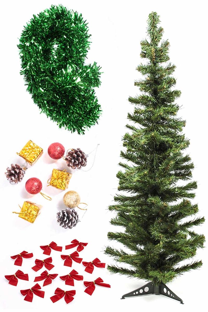 Yılbaşı Ekonomik Süslü Ağaç Seti 120cm 1 Adet (Model-98)