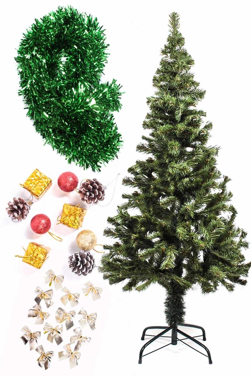 Yılbaşı Ekonomik Süslü Ağaç Seti 150cm 1 Adet (Model-102)