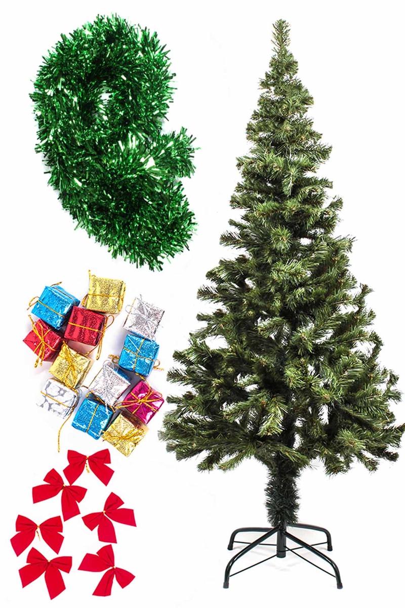 Yılbaşı Ekonomik Süslü Ağaç Seti 150cm 1 Adet (Model-107)