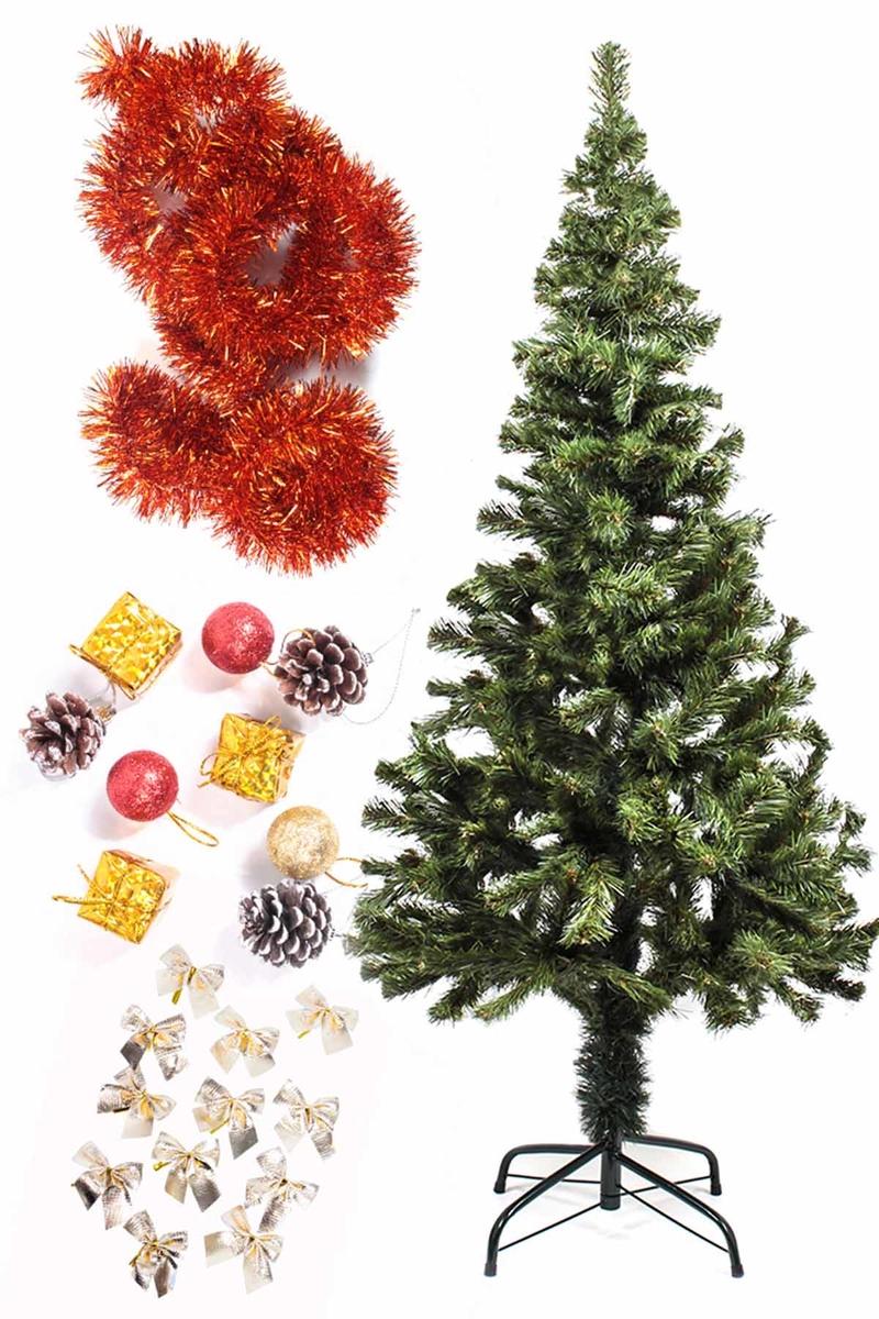Yılbaşı Ekonomik Süslü Ağaç Seti 150cm 1 Adet (Model-54)