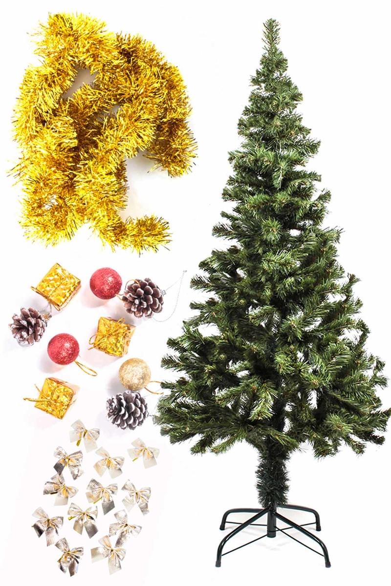 Yılbaşı Ekonomik Süslü Ağaç Seti 150cm 1 Adet (Model-6)