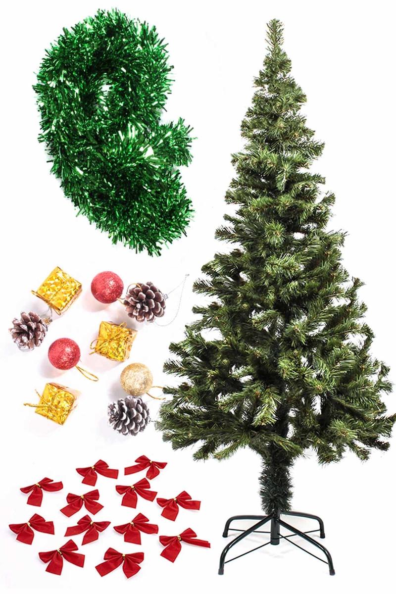 Yılbaşı Ekonomik Süslü Ağaç Seti 150cm 1 Adet (Model-98)