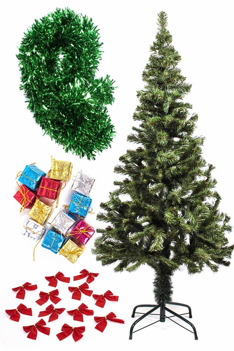 Yılbaşı Ekonomik Süslü Ağaç Seti 150cm 1 Adet (Model-99)