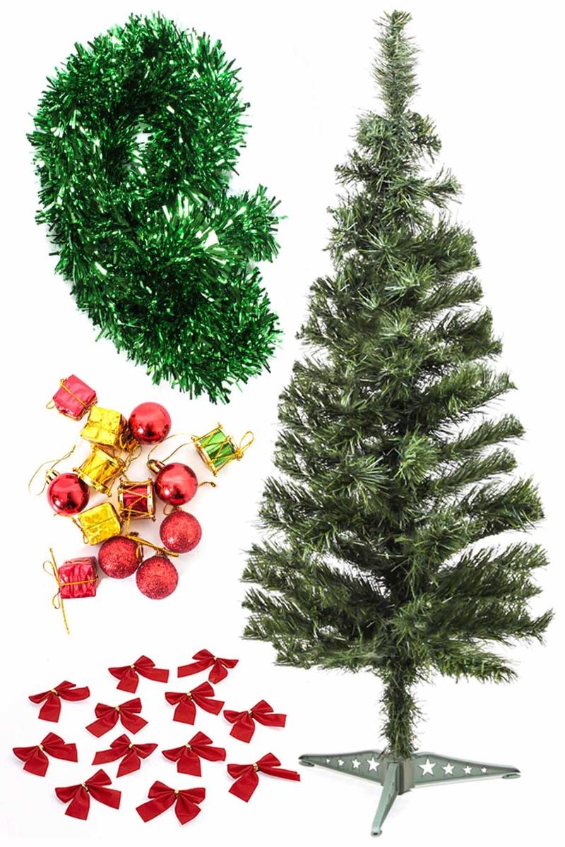 Yılbaşı Ekonomik Süslü Ağaç Seti 90cm 1 Adet (Model-100)