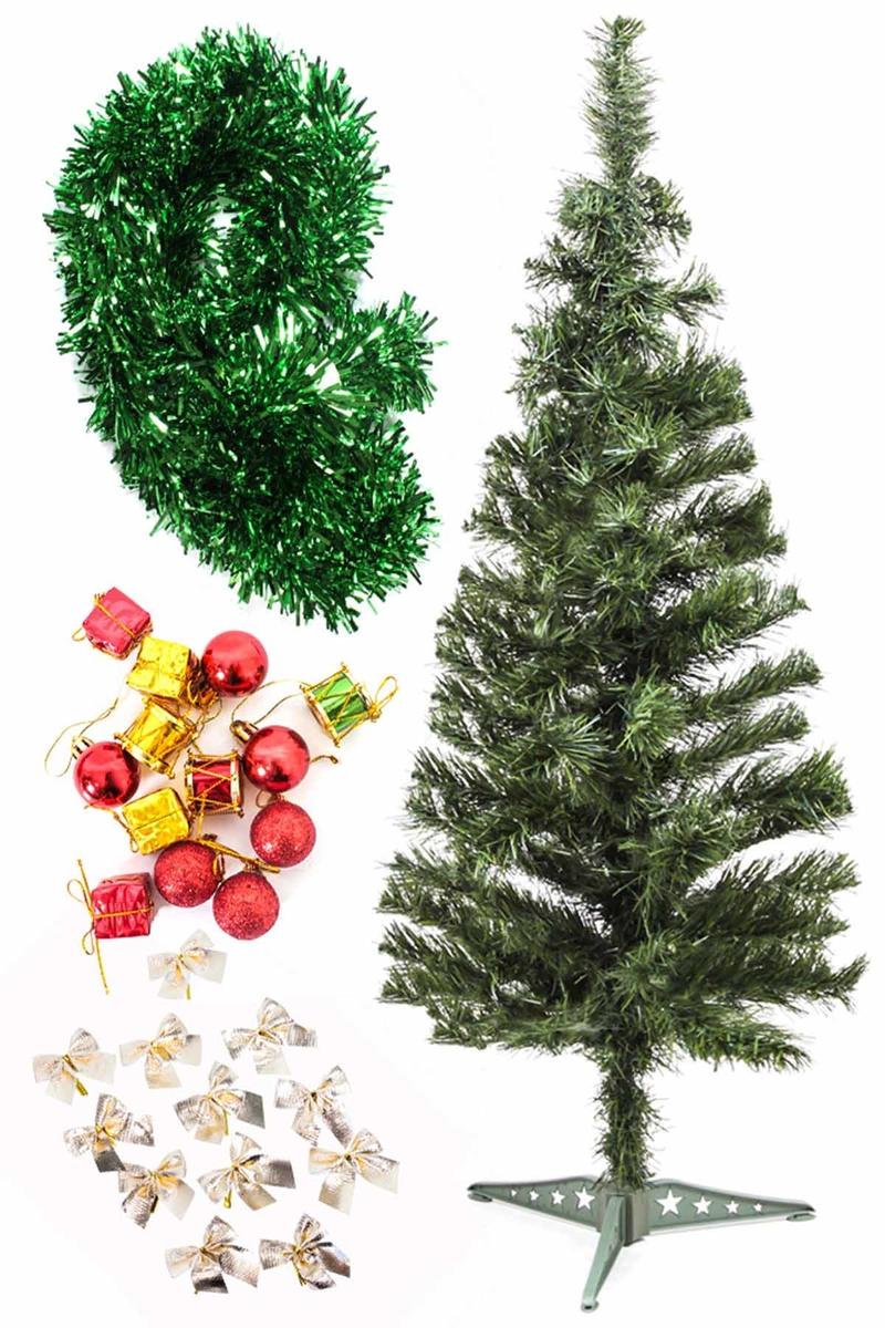 Yılbaşı Ekonomik Süslü Ağaç Seti 90cm 1 Adet (Model-104)