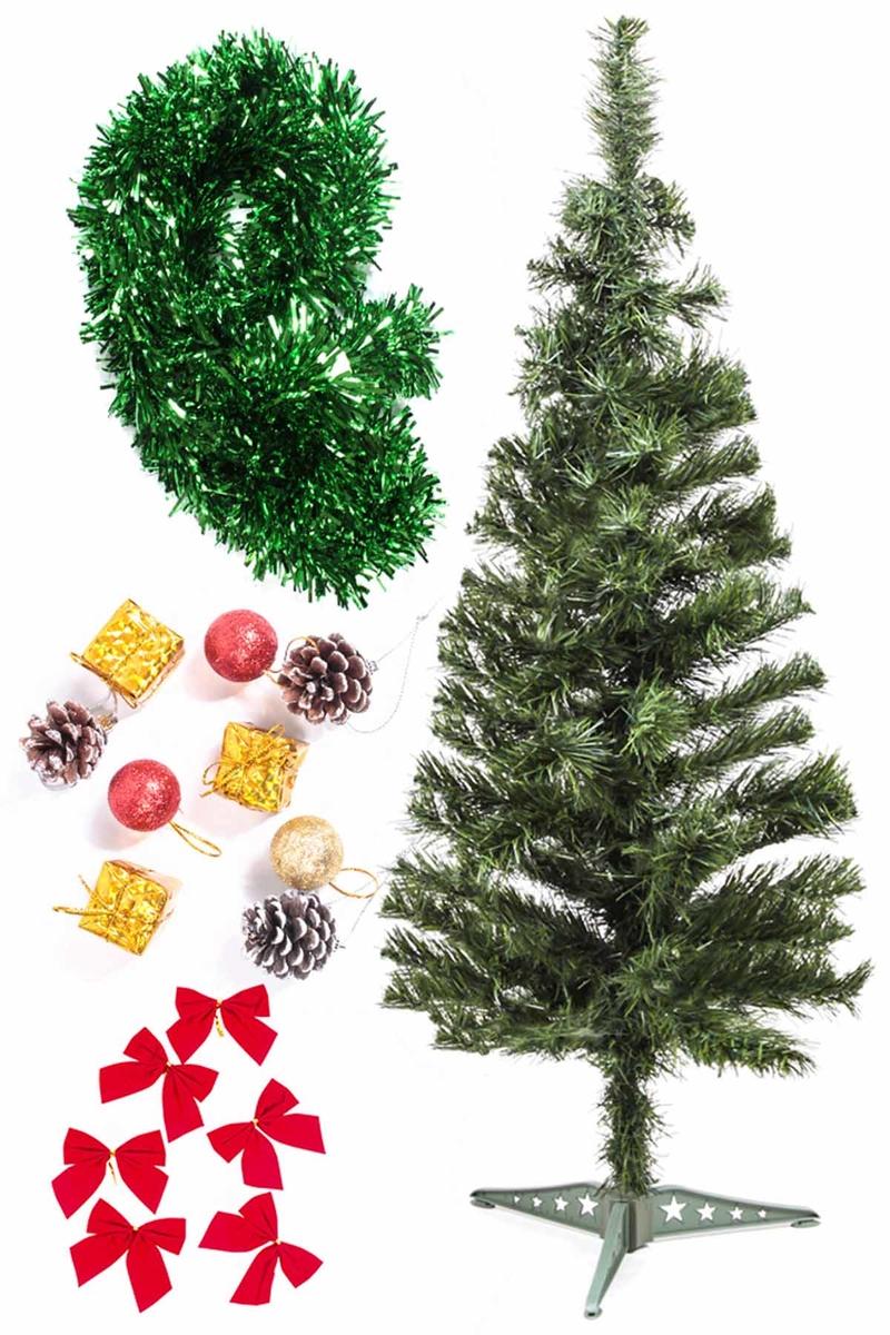 Yılbaşı Ekonomik Süslü Ağaç Seti 90cm 1 Adet (Model-106)