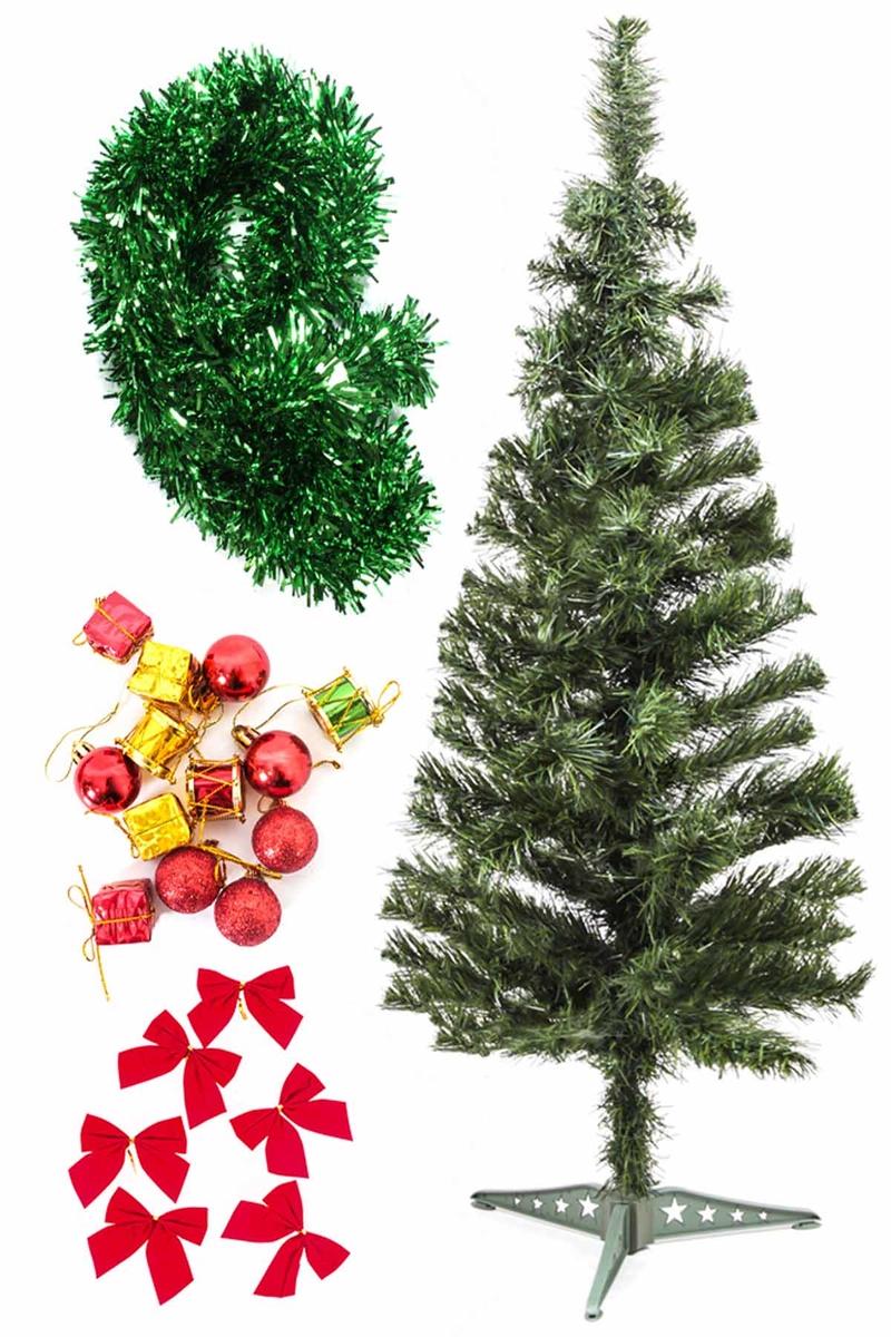 Yılbaşı Ekonomik Süslü Ağaç Seti 90cm 1 Adet (Model-108)