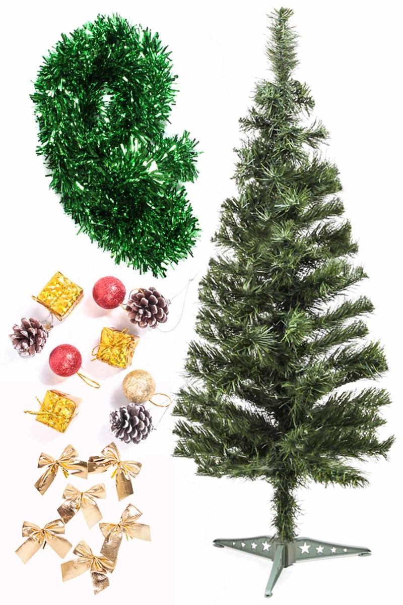 Yılbaşı Ekonomik Süslü Ağaç Seti 90cm 1 Adet (Model-110)