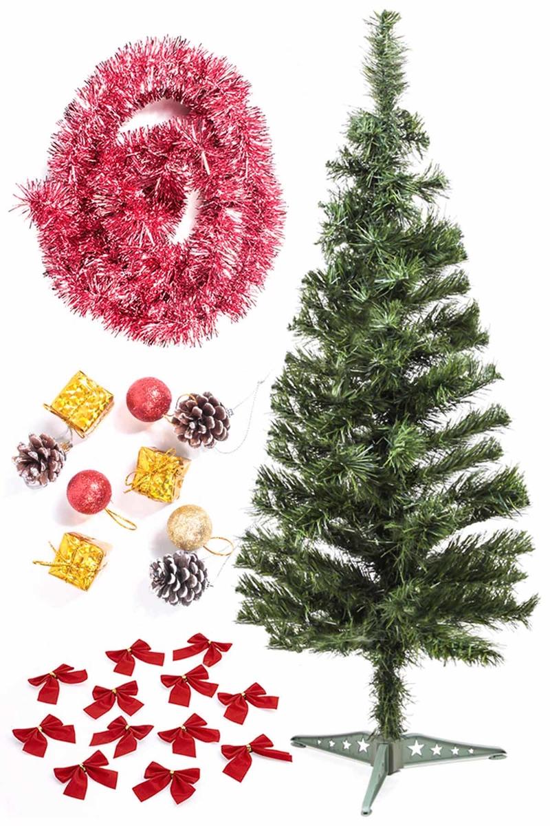 Yılbaşı Ekonomik Süslü Ağaç Seti 90cm 1 Adet (Model-21)