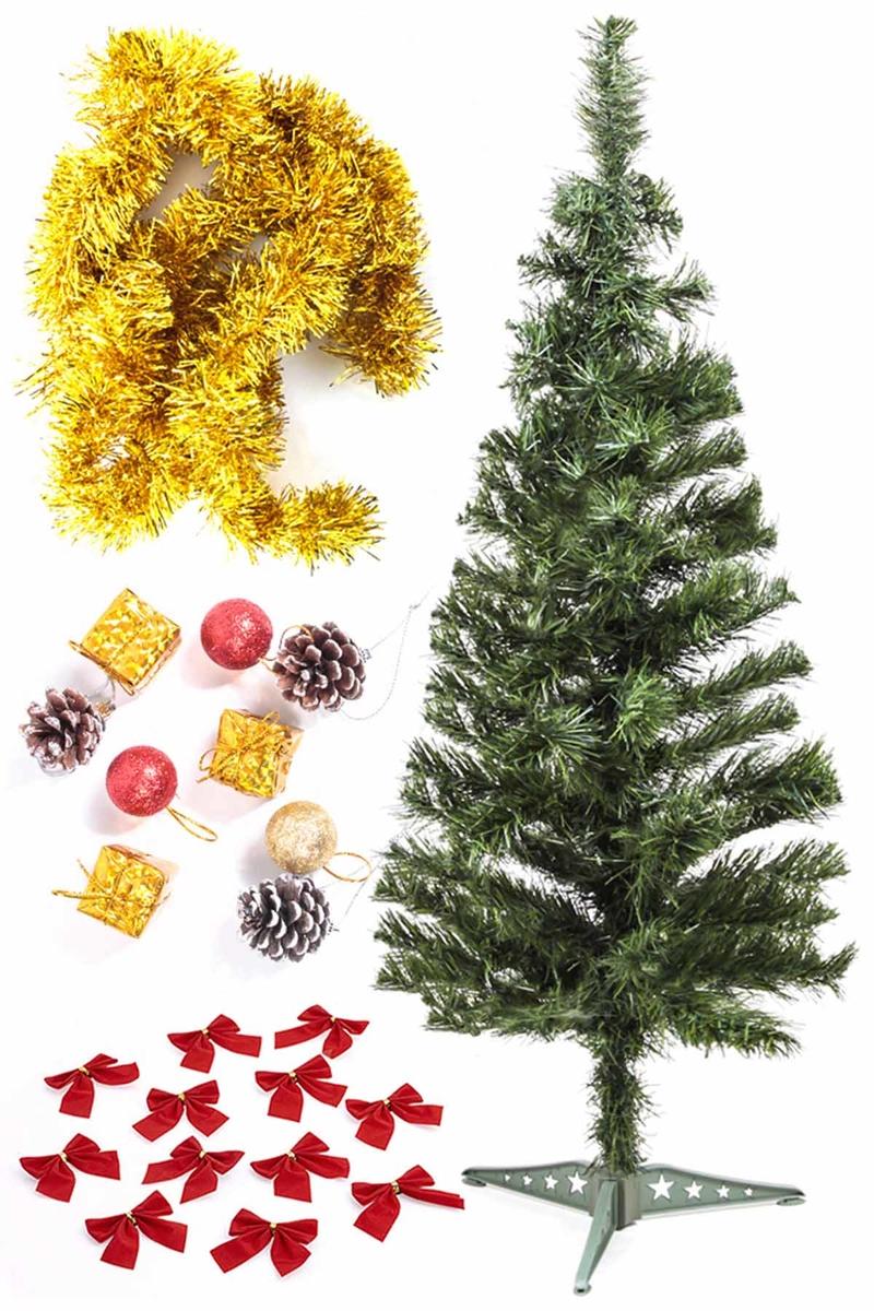 Yılbaşı Ekonomik Süslü Ağaç Seti 90cm 1 Adet (Model-5)
