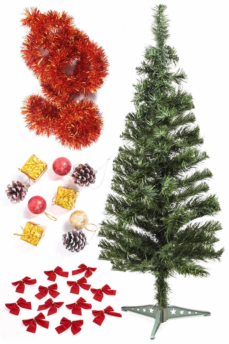 Yılbaşı Ekonomik Süslü Ağaç Seti 90cm 1 Adet (Model-50)