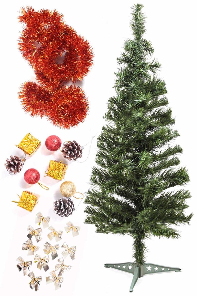Yılbaşı Ekonomik Süslü Ağaç Seti 90cm 1 Adet (Model-54)