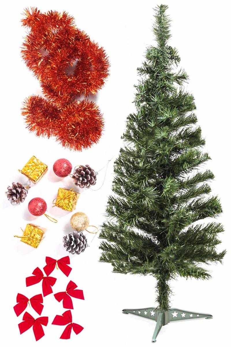 Yılbaşı Ekonomik Süslü Ağaç Seti 90cm 1 Adet (Model-58)