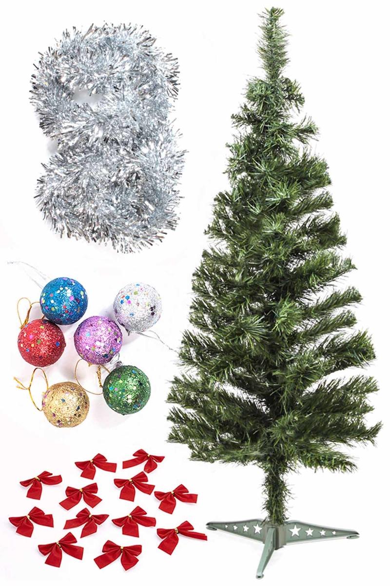 Yılbaşı Ekonomik Süslü Ağaç Seti 90cm 1 Adet (Model-65)