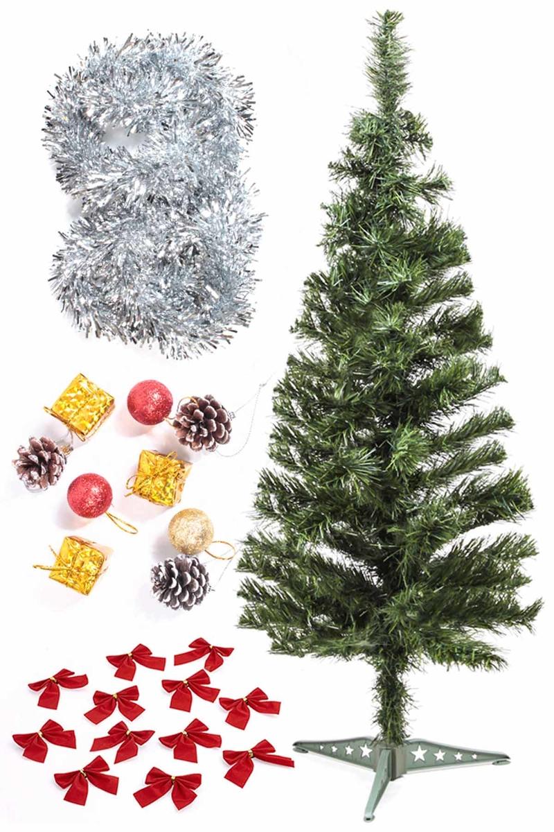 Yılbaşı Ekonomik Süslü Ağaç Seti 90cm 1 Adet (Model-66)