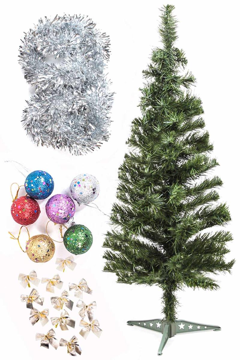 Yılbaşı Ekonomik Süslü Ağaç Seti 90cm 1 Adet (Model-69)