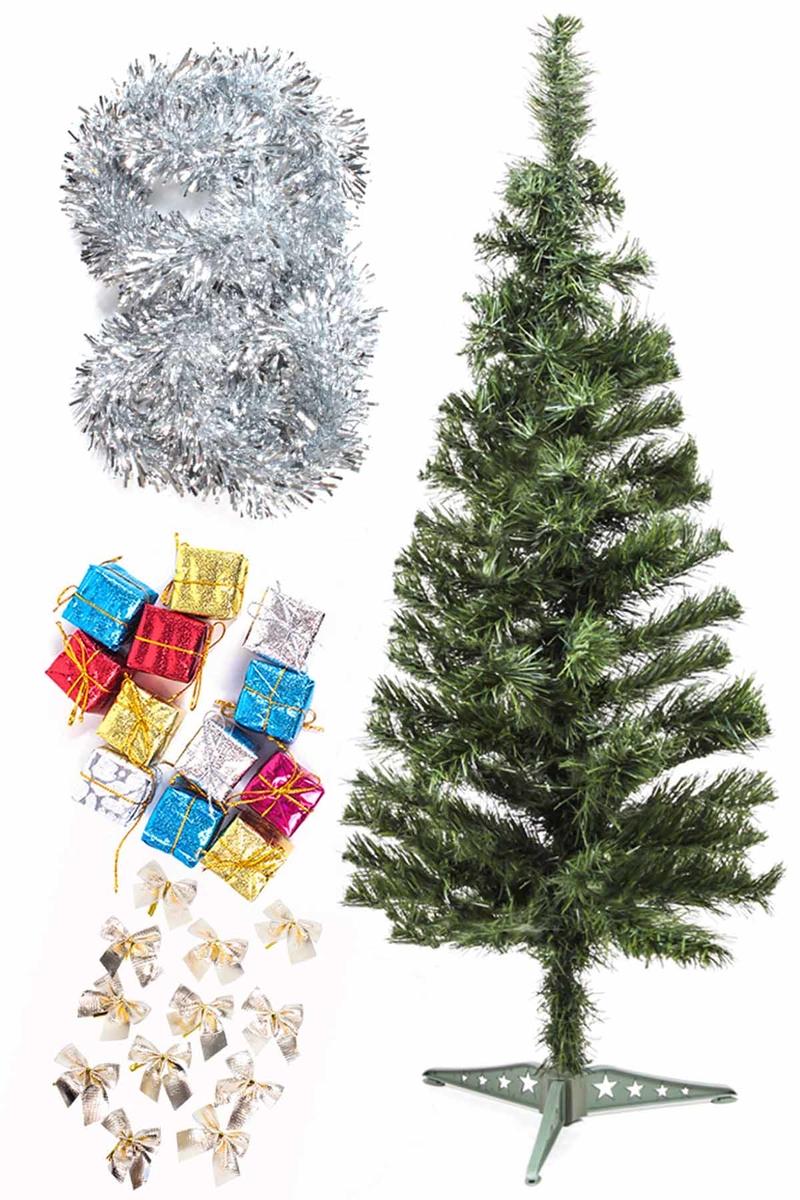 Yılbaşı Ekonomik Süslü Ağaç Seti 90cm 1 Adet (Model-71)